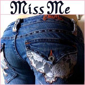 Miss Me Lace Detail Denim Jeans St. Louis